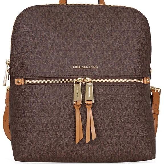 20a5bffdcd7e MICHAEL Michael Kors Bags | Michael Kors Rhea Medium Slim Mk Logo ...